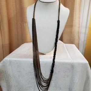 LOFT Ribbon Multistrand Chain Necklace #582